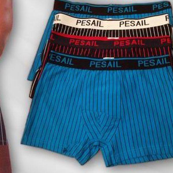Stylové pánské boxerky, 4 ks, cena včetně poštovného s elegantním jemným proužkem. Pohodlné a moderní pánské boxerky jsou vyrobeny z velmi příjemného materiálu.