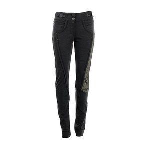 Dámské tmavě šedé kalhoty se zdobenou nohavicí Angels Never Die