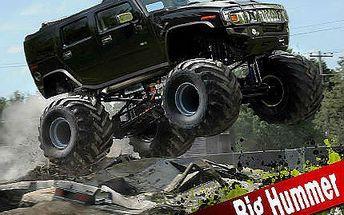 30 minut adrenalinového řízení Hummer Monster trucku!