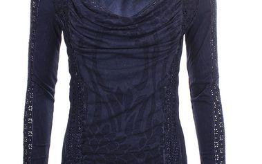 Dámské tmavě modré triko s dlouhým rukávem Angels Never Die