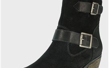 Dámské kotníkové kožené boty