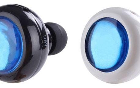 Mini stereo sluchátko headset Bluetooth černé/bílé