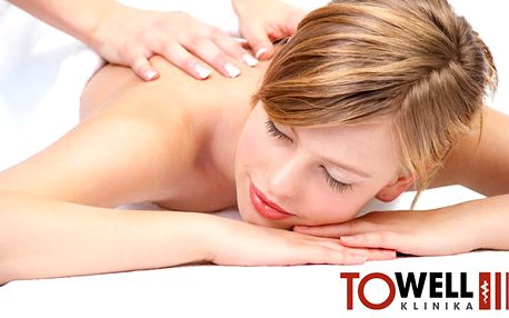60 min. lekářská masáž jemnou technikou odblokování krční páteře, šíje a zad