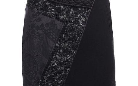 Dámská šedo-černá vzorovaná sukně Angels Never Die