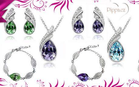 3dílný set šperků s krystaly Swarovski