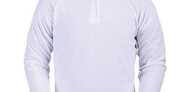 Pánská bílá fleecová mikina Furco