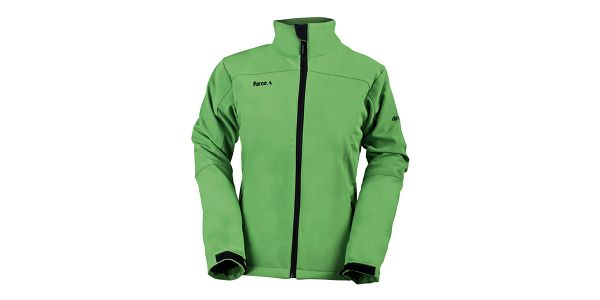 Dámská zelená softshellová bunda s límcem Furco