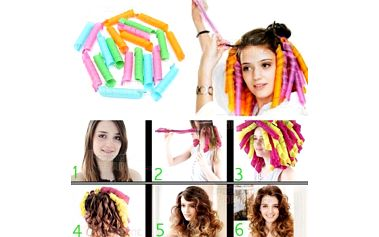 Barevné namotávací natáčky na vlasy - 10 kusů a poštovné ZDARMA! - 9999915482