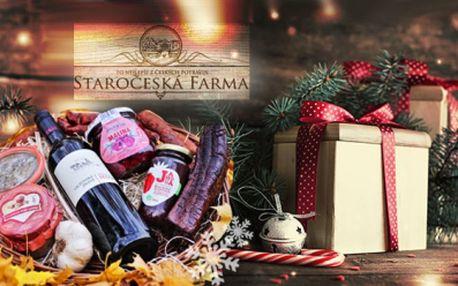 Dárkové koše od českých farmářů! Uzeniny, paštika, džem, medovina a další! Pravé sváteční hody!