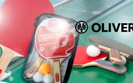 """SET NA STOLNÍ TENIS zn. OLIVER! 2 pálky """"mechovky"""" + 3 míčky v praktickém pouzdru za skvělou cenu!"""