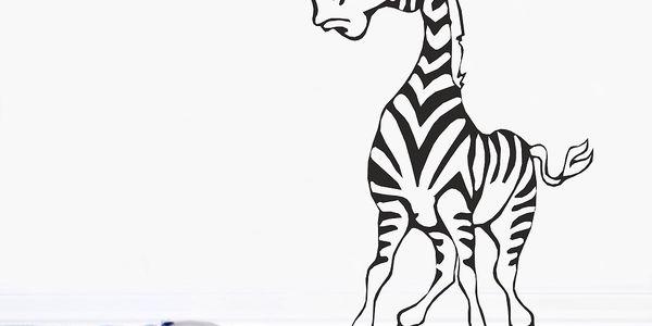 Samolepka Zebra černá (100x56 cm)