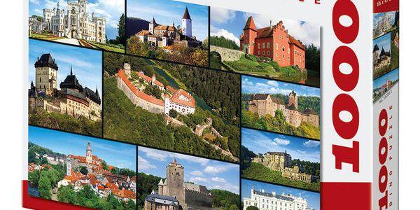 DINO Puzzle 1000 dílků - Hrady a zámky