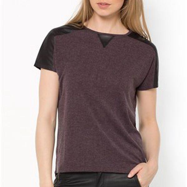 Dvojité dámské tričko s pásky na ramenou