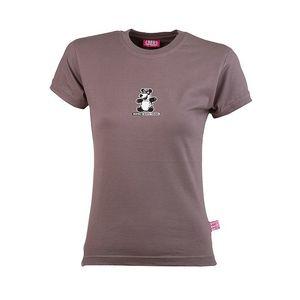 Dámské hnědé tričko s pandou Respiro