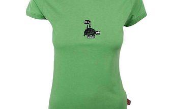 Dámské zelené tričko s želvičkou Respiro