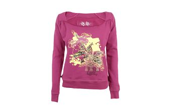Dámské růžové tričko s lodičkovým výstřihem Authority