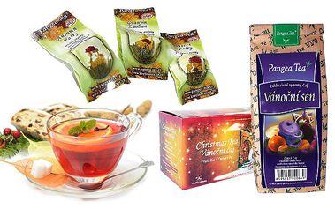 Balíček vánočních čajů pro vytvoření pokojné vánoční atmosféry
