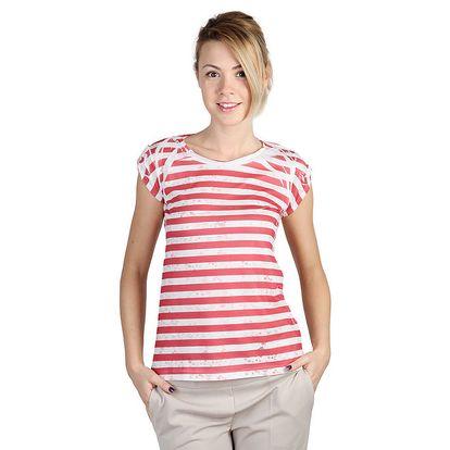 Dámské pruhované tričko s potiskem Bonavita