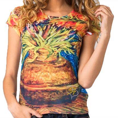 Dámské tričko s barevným potiskem Seven LA