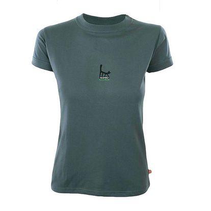 Dámské kouřově šedé tričko s potiskem kočky Respiro