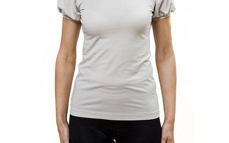 Dámské béžové tričko s natupírovaným rukávem Mera