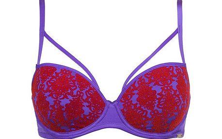 Dámská fialovo-červená podprsenka Sapph
