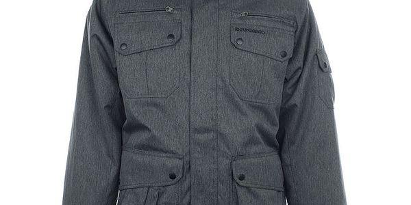 Pánská funkční šedá bunda s kapucí Fundango