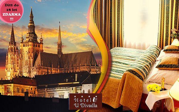 Víkend v luxusním 4* Hotelu U Divadla v Praze pro DVA. Dítě do 18 let zdarma