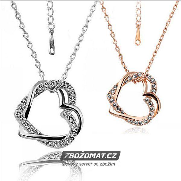 Srdíčkový náhrdelník s krystaly - zatřpyťte se!