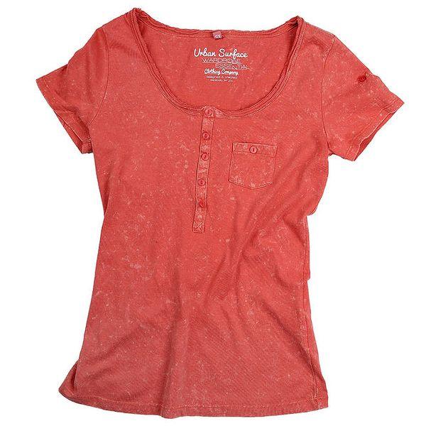Dámské světle červené tričko Urban Surface