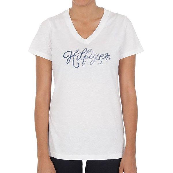 Dámské bílé bavlněné tričko Tommy Hilfiger