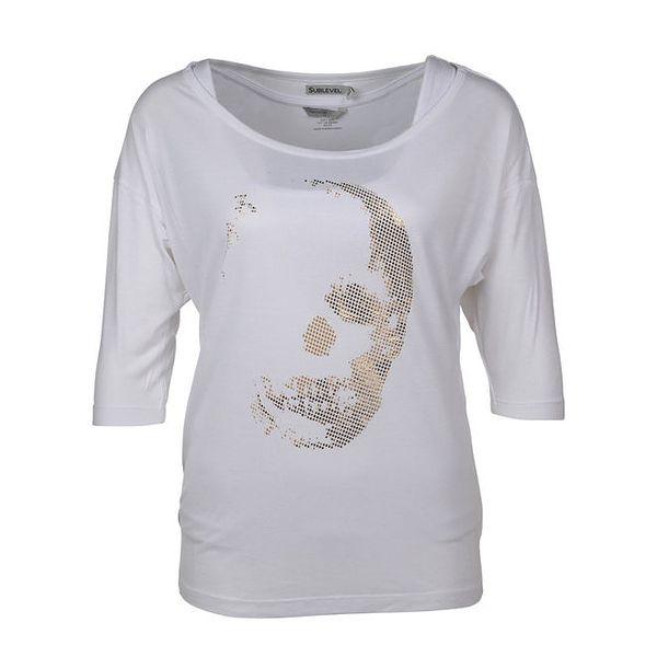 Dámské bílé tričko s potiskem Sublevel