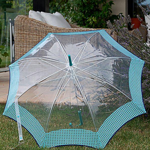 Dámský transparentní deštník s modrým lemem Alvarez Romanelli