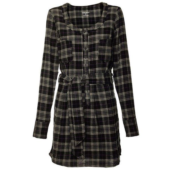 Dámské tmavě šedé kostkované šaty Fundango