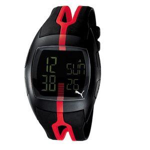 Unisex digitální hodinky Puma Jump Black/Red