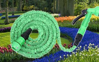 Extrémně pevná zahradní hadice elastická 46m