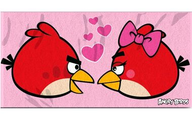 Osuška Angry Birds 085, 70 x 140 cm