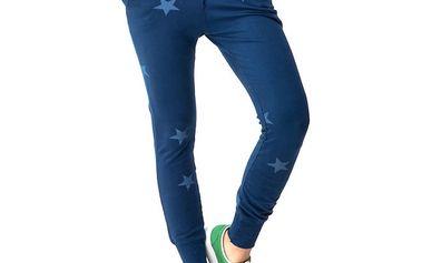 Dámské modré kalhoty s hvězdičkami Sixie