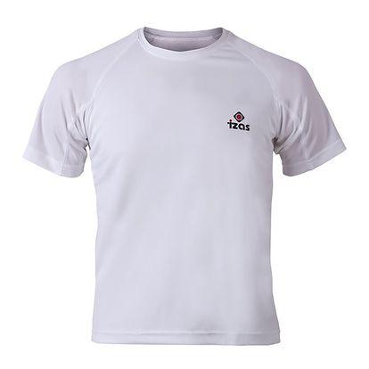 Pánské bílé funkční tričko s krátkým rukávem Izas