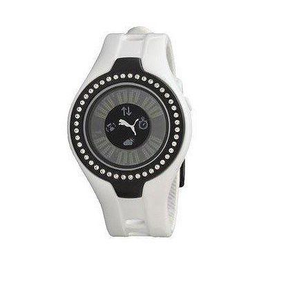 Dámské digitální hodinky Puma Blockbuster white