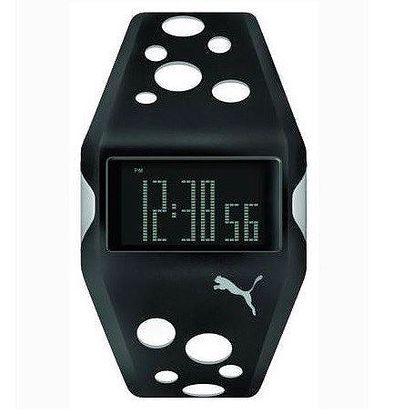 Unisex digitální hodinky Puma Active Motorsport Black/white