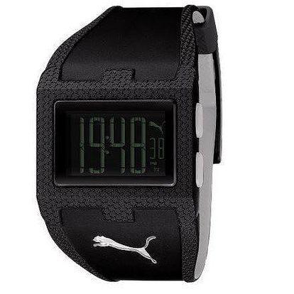 Unisex digitální hodinky Puma Flux-M Black