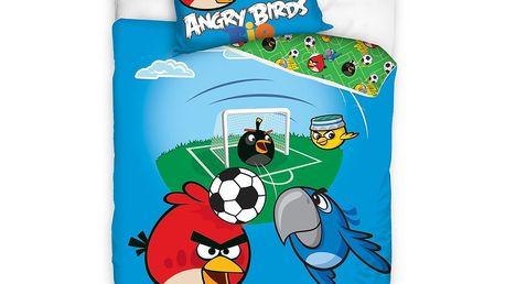 Bavlněné povlečení Angry Birds Rio Fotbal, 140 x 200 cm, 70 x 80 cm