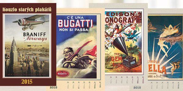 Nástěnný kalendář Kouzlo starých plakátů na rok 2015