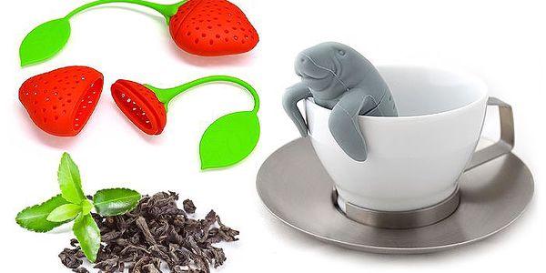 3 různá originální sítka na sypaný čaj