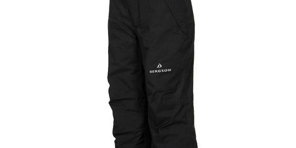 Dětské černé lyžařské kalhoty Bergson