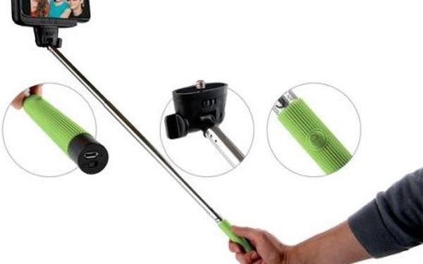 Držák na SELFIE, Bluetooth, teleskopická tyč 22 - 104 cm