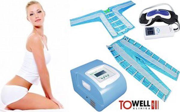 50minutová celotělová přístrojová lymfodrenáž včetně uvolnění uzlin a masáže obličeje.