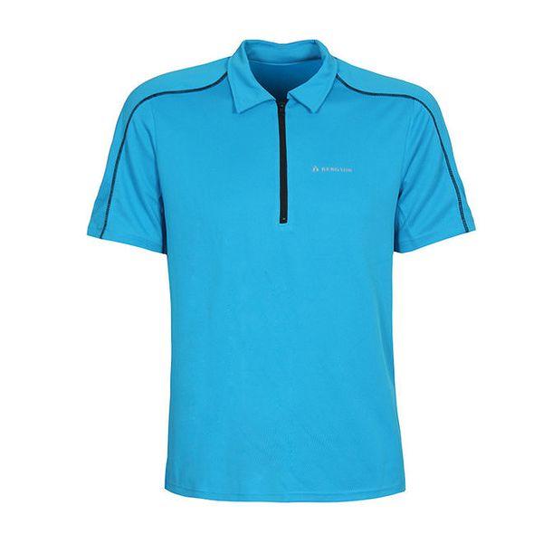 Pánský modrý dres s krátkým rukávem Bergson
