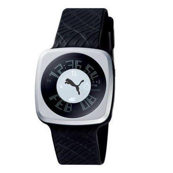 Pánské digitální hodinky Puma Blockbuster Gents Silver